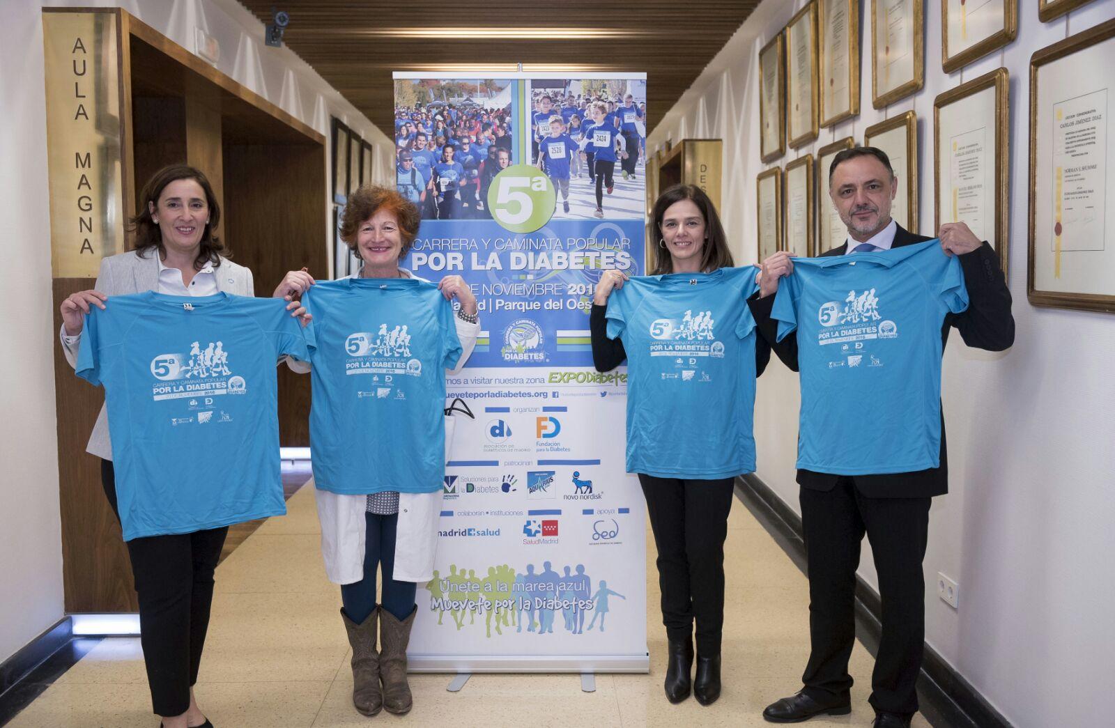 camisetas del equipo especialista en diabetes