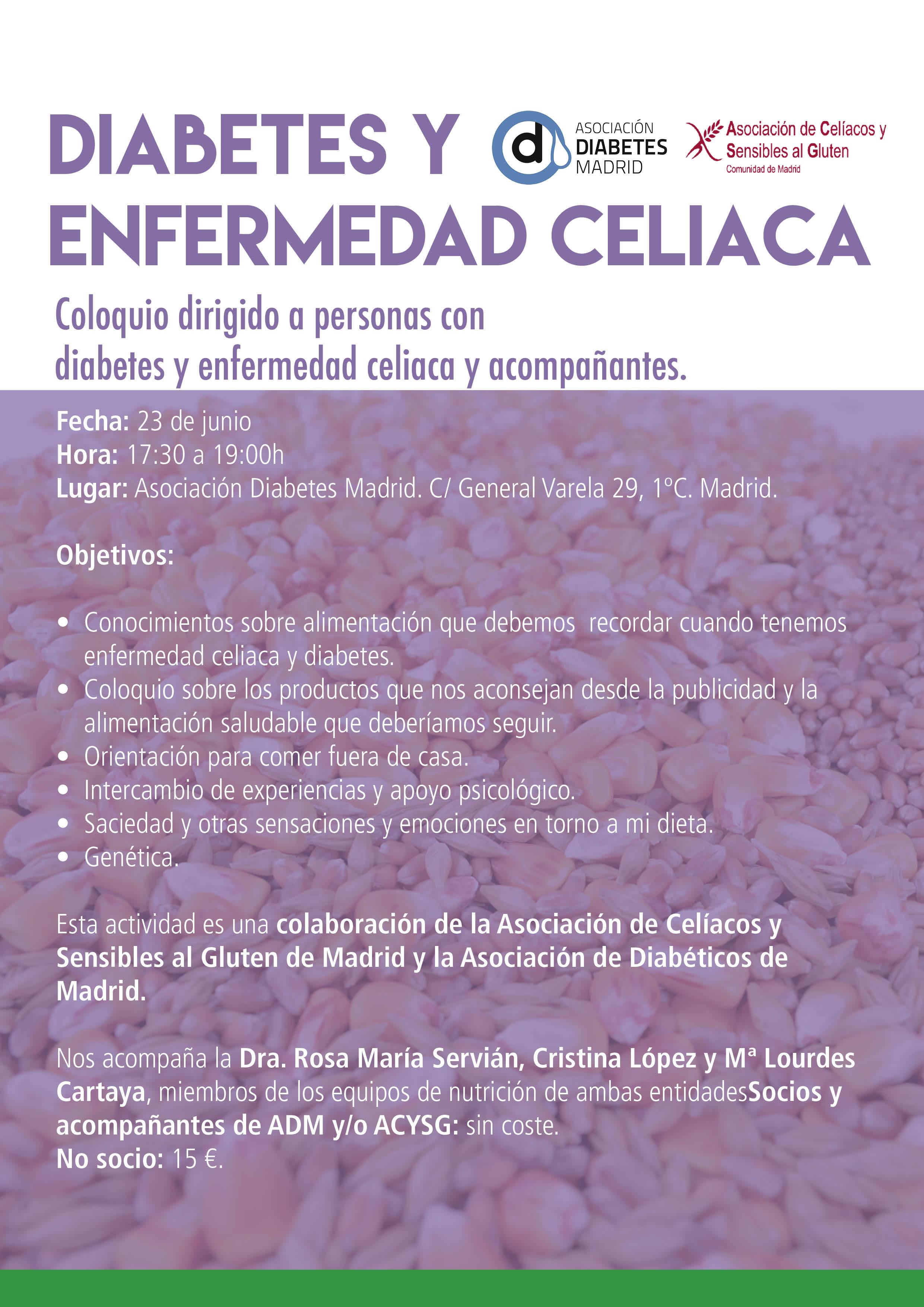 dieta para celiaco y diabetes