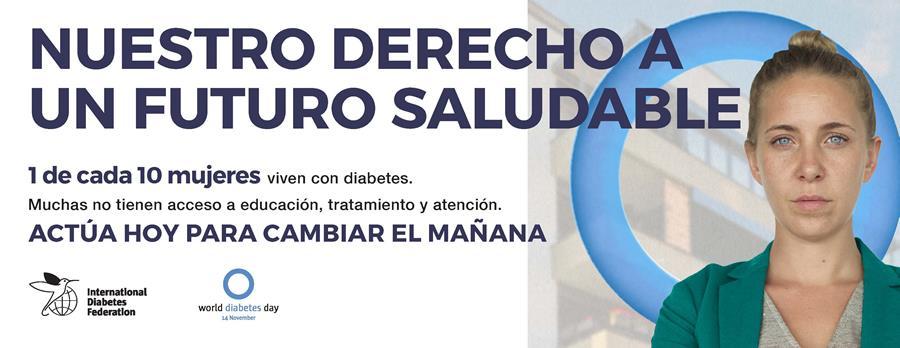 círculo azul día mundial de la diabetes facebook
