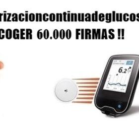 60000 firmas monitorización continua de glucosa