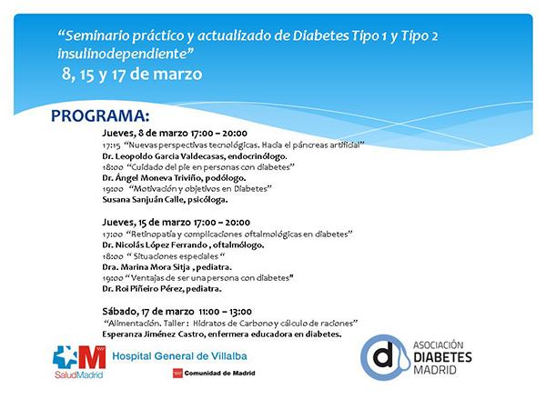Seminario práctico y actualizado de Diabetes Tipo 1 y Tipo 2 insulinodependiente
