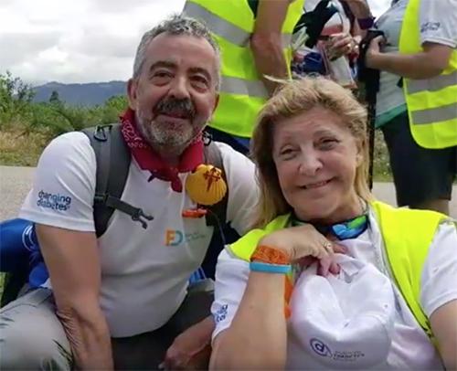 La Asociación Diabetes Madrid en el Camino de Santiago