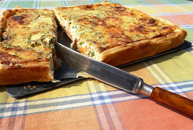 Receta por raciones: Pastel de verduras y queso