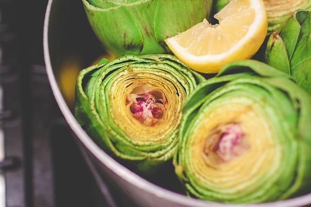 Receta por raciones: Alcachofas al limón