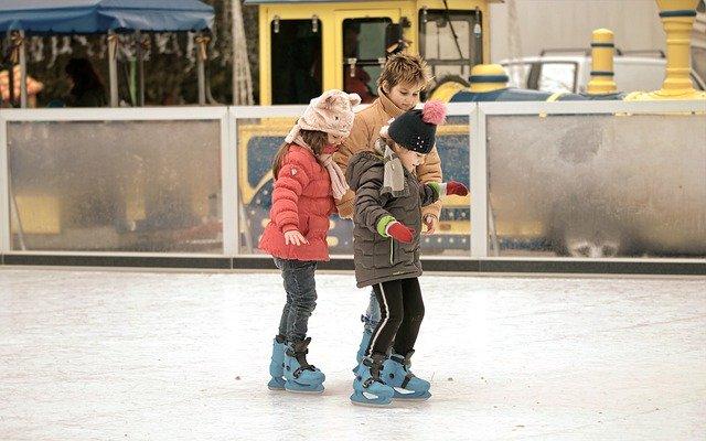 Patinando ¡sobre hielo!