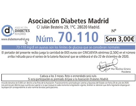 Lotería de Navidad de Asociación Diabetes Madrid