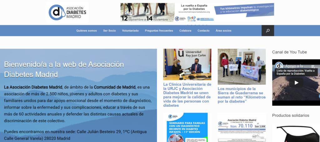 Nueva web de Asociación Diabetes Madrid