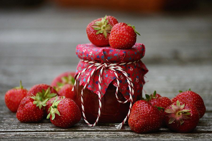 Mermelada de fresas con chía sin azúcar
