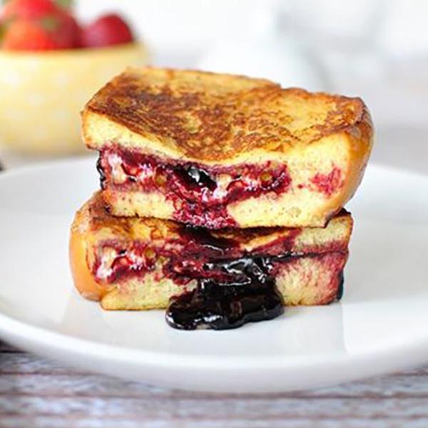 Receta por raciones: Tostadas francesas con mermelada