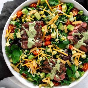 Steak salad bowl