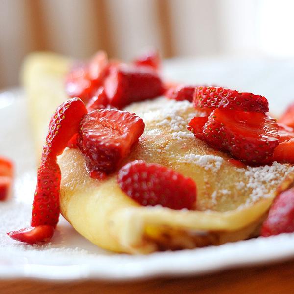 Receta por raciones: Tortitas de avena con fresas