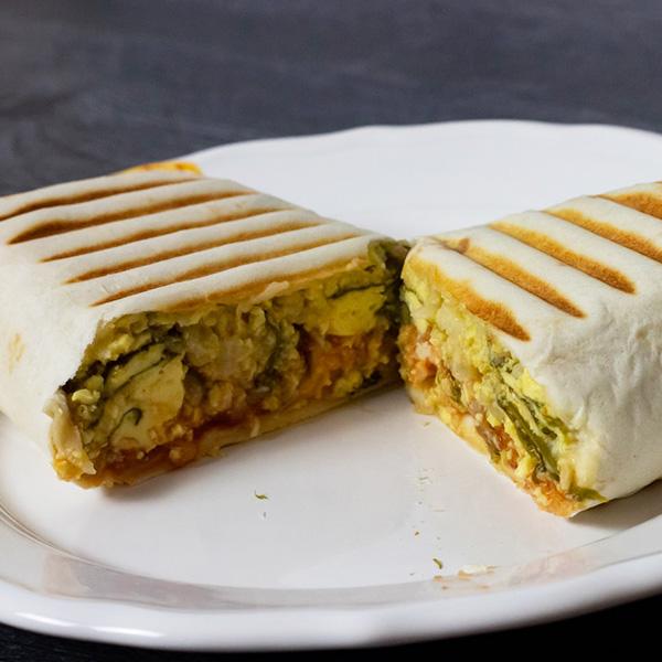 Receta por raciones: Burrito de huevo