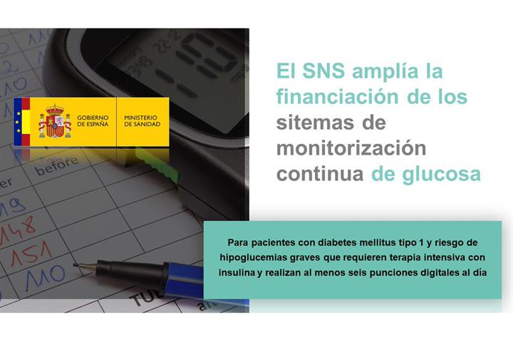 El SNS amplía con nuevos dispositivos la financiación de los sistemas de monitorización continua de glucosa en tiempo real